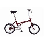 折りたたみ自転車 【シングルギア 16インチ】 クラシックレッド スチール 『Classic Mimugo』
