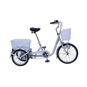 スイング機能 三輪自転車 【幅広ペダル シルバー】 前20インチ/後16インチ 重量25.5kg スチール 『SWING CHARLIE』 - 拡大画像