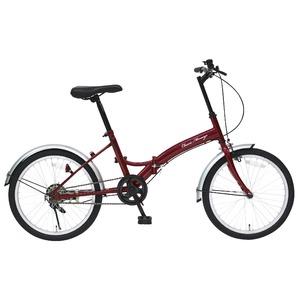 折りたたみ自転車 【シングルギア 20インチ】 クラシックレッド スチール 『Classic Mimugo』 - 拡大画像