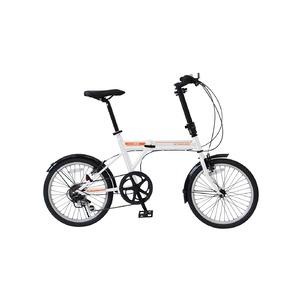 折りたたみ自転車/バイシクル 【ホワイト】 ノーパンクタイヤ 20インチ シマノ製6段ギア スチールフレーム 『ACTIVEPLUS911』 - 拡大画像