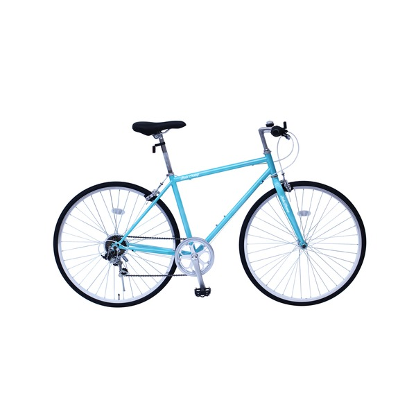 6段変速 クロスバイク 【ブルー】 700C スチール 幅169cm×奥行53cm×高さ100cm サドル83cm〜101cm 重量17kg 『FIELD CHAMP』
