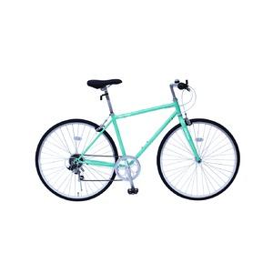 6段変速 クロスバイク 【グリーン】 700C スチール 幅169cm×奥行53cm×高さ100cm サドル83cm〜101cm 重量17kg 『FIELD CHAMP』