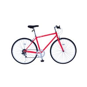 6段変速 クロスバイク 【レッド】 700C スチール製 幅169cm×奥行53cm×高さ100cm サドル83cm〜101cm 重量17kg 『FIELD CHAMP』