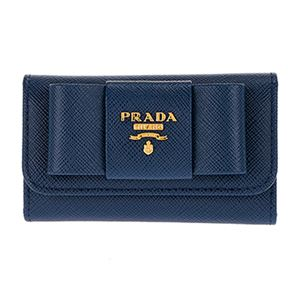 Prada (プラダ) 1PG222 S/FIOCCO/BLUETTE キーケース - 拡大画像