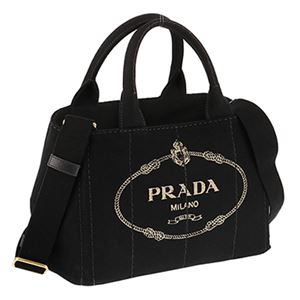 Prada (プラダ) 1BG439 CANAPA/NER 手提げバッグ