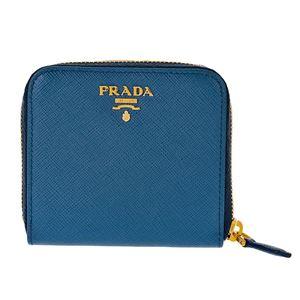 Prada (プラダ) 1ML522 S/ME/AZZURRO 二つ折り財布