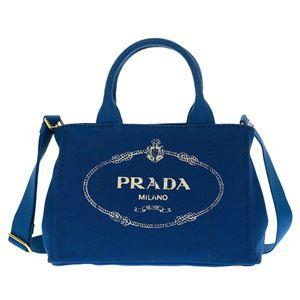 Prada (プラダ) 1BG439 CANAPA/COBALTO 手提げバッグ