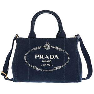 Prada (プラダ) 1BG439 CANAPA/BALTICO 手提げバッグ