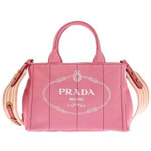 Prada (プラダ) 1BG439 CANAPA ROO/GERANIO/BIA 手提げバッグ