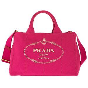 Prada (プラダ) 1BG642 CANAPA/FUXIA 手提げバッグ