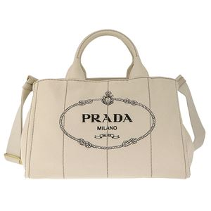 Prada (プラダ) 1BG642 CANAPA/GREZZO 手提げバッグ