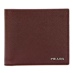 Prada (プラダ) 2MO738 S/BICOLORE/GRANATO/CERI 二つ折り財布