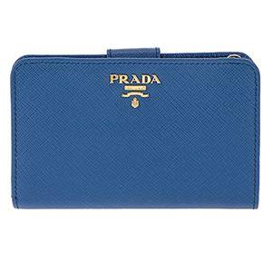 Prada (プラダ) 1ML225 S/ME/AZZURRO 二つ折り財布 - 拡大画像