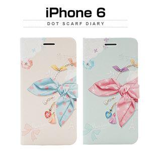 Happymori iPhone6 Dot Scarf Diary ブルースカーフ