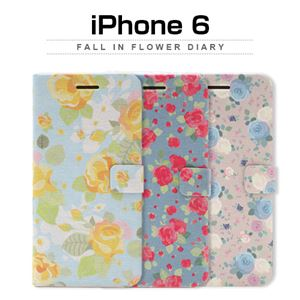Happymori iPhone6 Fall in flower Diary イエローローズ