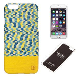 Man&Wood iPhone6 Plus 天然木ケース Yellow Submarine ホワイトフレーム - 拡大画像