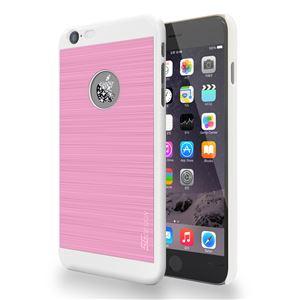 SG iPhone6 Plus ALU ロゴイルミネーションケース Galaxy ホワイト+ピンク - 拡大画像