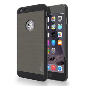 SG iPhone6 Plus ALU ロゴイルミネーションケース Gear ブラック+チタンシルバー - 拡大画像