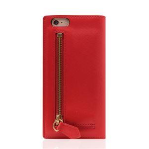 SLG Design iPhone6/6S Saffiano Zipper Case レッド - 拡大画像