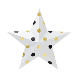 Sweet ball STAR 5 Black & gold - 拡大画像