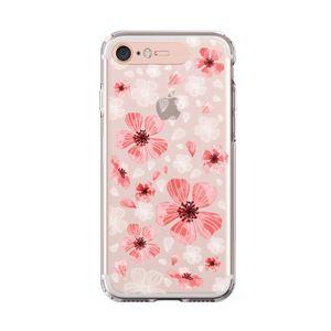 LIGHT UP CASE iPhone 8 / 7 Soft Lighting Clear Case Flower Geranium (ローズゴールド)