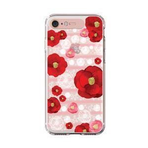 LIGHT UP CASE iPhone 8 / 7 Soft Lighting Clear Case Flower Rosa (ローズゴールド)