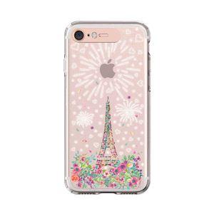 LIGHT UP CASE iPhone 8 / 7 Soft Lighting Clear Case Landmark Paris (ローズゴールド)