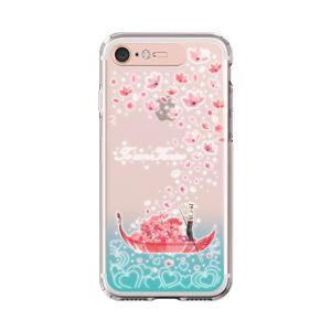 LIGHT UP CASE iPhone 8 / 7 Soft Lighting Clear Case Landmark Venice (ローズゴールド)