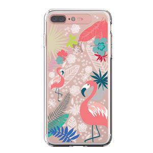 LIGHT UP CASE iPhone 8 Plus / 7 Plus Soft Lighting Clear Case Flower Flamingo (ローズゴールド)