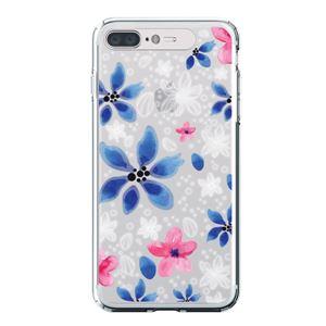 LIGHT UP CASE iPhone 8 Plus / 7 Plus Soft Lighting Clear Case Flower Gardenia (ブラック)