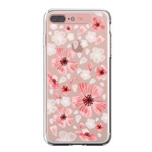 LIGHT UP CASE iPhone 8 Plus / 7 Plus Soft Lighting Clear Case Flower Geranium (ローズゴールド)