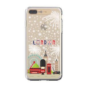 LIGHT UP CASE iPhone 8 Plus / 7 Plus Soft Lighting Clear Case Landmark London(ゴールド)