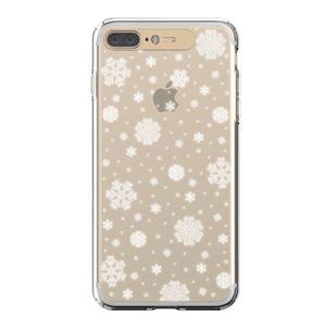 LIGHT UP CASE iPhone 8 Plus / 7 Plus Soft Lighting Clear Case Snow (ゴールド)