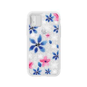 LIGHT UP CASE iPhone X Lighting Shield Case Flower Gardenia (ブラック)