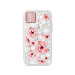LIGHT UP CASE iPhone X Lighting Shield Case Flower Geranium (ローズゴールド)