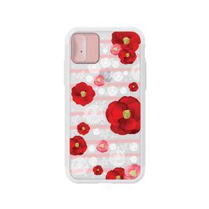 LIGHT UP CASE iPhone X Lighting Shield Case Flower Rosa (ローズゴールド)