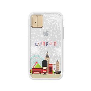 LIGHT UP CASE iPhone X Lighting Shield Case Landmark Londo  (ゴールド)