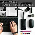 SLG Design Minerva Box Leather Bracelet Cable ブラック