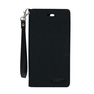 iPhone 8Plus/7Plus Canvas Flip Case ブラック - 拡大画像