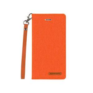 iPhone X Canvas Flip Case オレンジ - 拡大画像