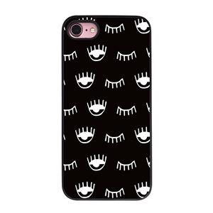 Dparks iPhone8/7 ブラックケース ウィンク ブラック - 拡大画像