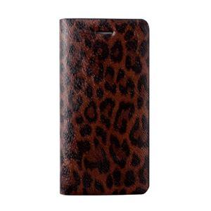 GAZE iPhone6 Leopard Diary ブラウンレオパード - 拡大画像