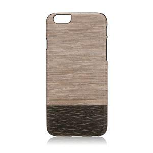 Man&Wood iPhone6/6s 天然木ケース Lattis ブラックフレーム - 拡大画像
