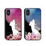 Dparks iPhone XR Spirit case フラワードリーム ブルー