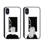 Dparks iPhone XS / X spirit case 窓際の女