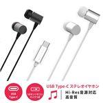 HACRAY USB Type-C Stereo Earphone シルバー