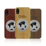 National Geographic iPhone XS / X Metal-Deco Wood Case チェリーウッド