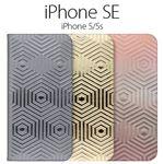 SLG Design iPhone SE Metal Leather Diary ゴールド