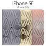 SLG Design iPhone SE Metal Leather Diary ピンクゴールド