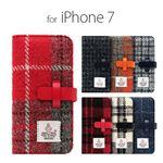 SLG Design iPhone 8/7 Harris Tweed Diary オレンジ×グレー